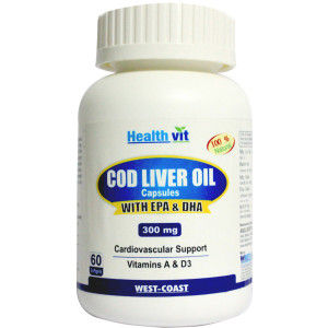 Buy Healthvit Cod Liver Oil - 60 Softgel Capsules - Nykaa