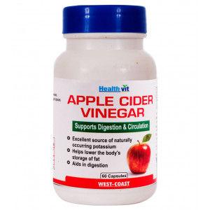 Buy Healthvit Apple Cider Vinegar 60 Capsules - Nykaa