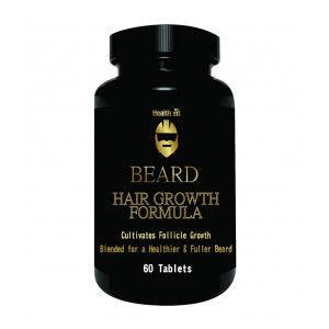 Buy Healthvit Beard Facial Hair Supplement for Thicker and Fuller Beard Hair (60 Tablets) - Nykaa