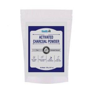 Buy HealthVit Activated Charcoal Powder - Nykaa