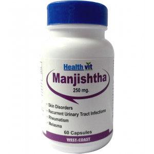 Buy HealthVit Manjishtha 250Mg 60 Capsules - Nykaa