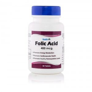 Buy HealthVit Folic Acid 400 Mcg 60 Tablets - Nykaa