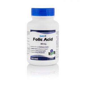 Buy HealthVit Folic Acid 800 Mcg 60 Tablets - Nykaa