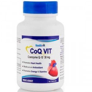 Buy Healthvit CoQ-Vit Coenzyme Q-10 30mg 60 capsules - Nykaa