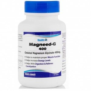 Buy Magneed-G 400 Chelated Magnesium Glycinate 400mg 60 Tablets - Nykaa