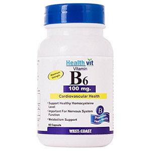 Buy HealthVit Vitamin B6 100 Mg 60 Capsules - Nykaa