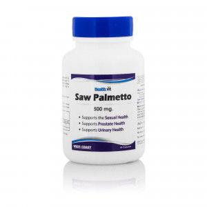 Buy HealthVit Saw Palmetto Extract 500 Mg 60 Capsules - Nykaa
