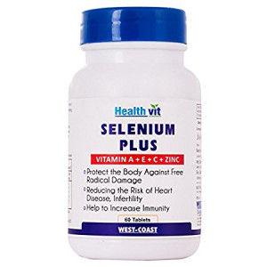 Buy HealthVit Selenium Plus (Vitamins A + C + E + Zinc) 60 Tablets - Nykaa