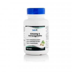 Buy HealthVit Ginseng With Ashwagandha 60 Capsules - Nykaa