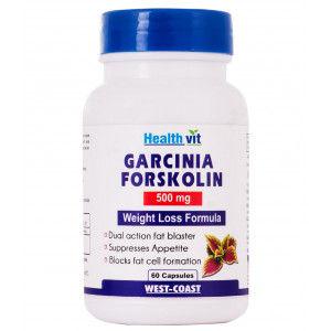 Buy HealthVit Garcinia Forskolin 500Mg Extract 60 Capsules - Nykaa