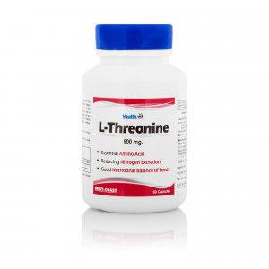 Buy HealthVit L-Threonine 500Mg 60 Capsules - Nykaa