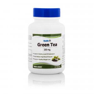 Buy HealthVit Green Tea 250mg 60 Capsules - Nykaa