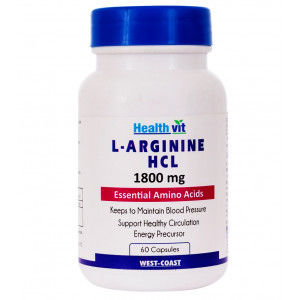 Buy HealthVit L-Arginine HCL 1800 Mg 60 Capsules - Nykaa
