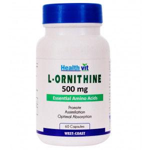Buy HealthVit L-Ornithine 500 Mg 60 Capsules - Nykaa