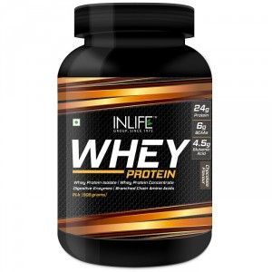 Buy INLIFE Whey Protein Powder 2 lbs (Chocolate Flavour) Body Building Supplement - Nykaa