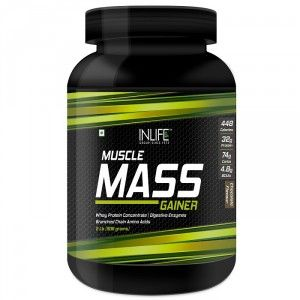Buy INLIFE Mass Gainer Powder 2 lbs, Chocolate Flavor For Muscle & Weight Gain - Nykaa
