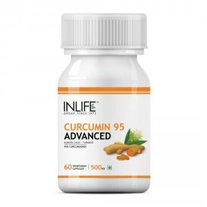Buy INLIFE Curcumin Turmeric Extract 500mg, 60 Veg Capsules For Brain & Immune Health - Nykaa