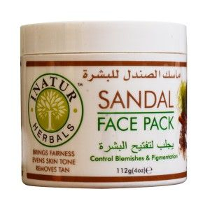 Buy Inatur Sandal Face Pack - Nykaa