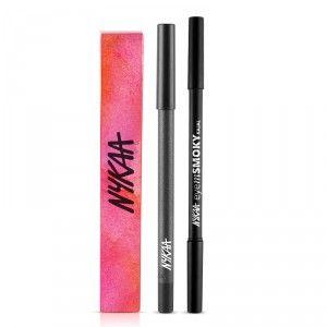 Buy Nykaa GLAMOReyes Eyeliner Pencil - Voodoo Grey 04 + EyemSMOKY Kajal Eyeliner - Nykaa