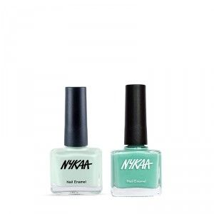 Buy Nykaa Mint Pop Nail Enamel Combo - Nykaa
