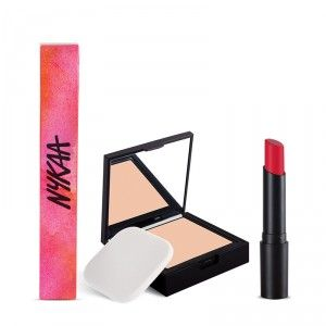 Buy Nykaa SKINgenius Skin Perfecting & Hydrating Compact - Rose Beige 02 + Nykaa Paintstix Lipstick - Tender Rose 05 Combo - Nykaa