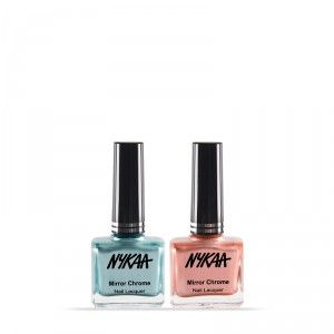 Buy NykaaMirrorChromeNail Lacquer - Lunar Green River & Copper Age - Nykaa