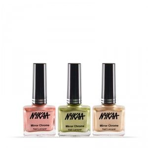 Buy Nykaa Mirror Chrome Nail Lacquer Best of 3 Combo - Nykaa