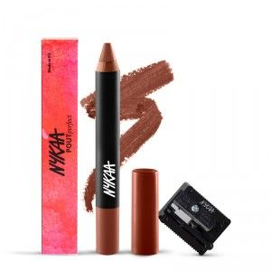Buy Nykaa Pout Perfect Lip & Cheek Velvet Matte Crayon Lipstick - Nude Me Not 05 + Prove Your Point Cosmetic Sharpener Combo - Nykaa