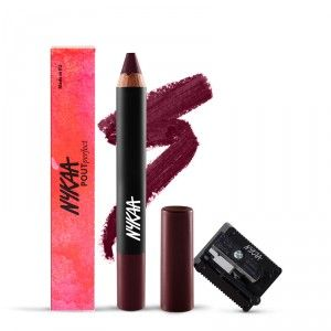 Buy Nykaa Pout Perfect Lip & Cheek Velvet Matte Crayon Lipstick - Please Plum Me 01 + Nykaa Prove Your Point Cosmetic Sharpener Combo - Nykaa