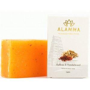 Buy Alanna Saffron & Sandalwood Facial & Body Soap - Nykaa