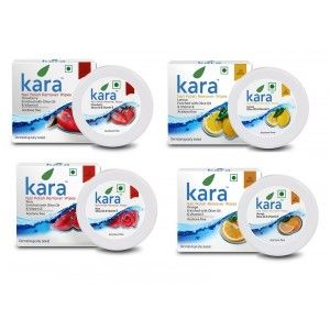 Buy Kara Nail Polish Remover Super Saver Pack of 4 (Orange, Rose, Lemon & Strawberry) - Nykaa