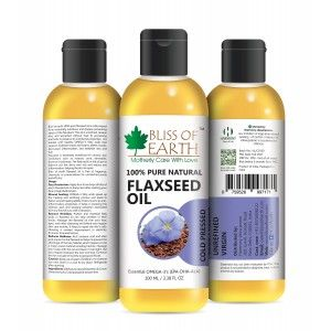 Buy Bliss Of Earth Flaxseed Oil - Nykaa