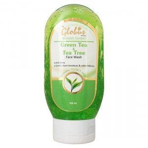 Buy Globus Remedies Green Tea & Tea Tree Face Wash - Nykaa