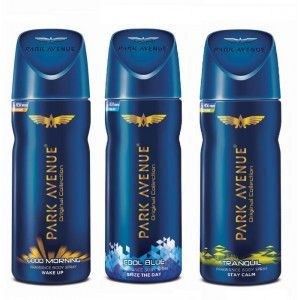 Buy Park Avenue Body Deo - Good Morning + Cool Blue + Tranquil (Buy 2 Get 1) - Nykaa
