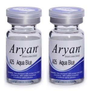Buy Purecon Aryan 2-Tone A25 Aqua Blue Yearly Contact Lens - Pack Of 2 - Nykaa