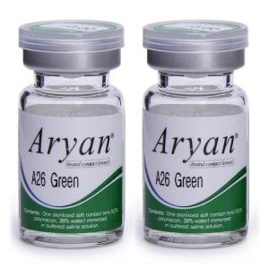 Buy Purecon Aryan 2-Tone A26 Green Yearly Contact Lens - Pack Of 2 - Nykaa