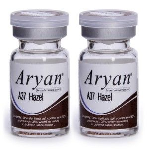 Buy Purecon Aryan A37 Hazel Yearly Contact Lens - Pack Of 2 - Nykaa