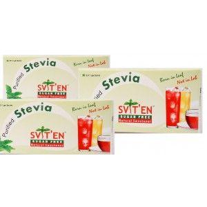 Buy Sviten Stevia Natural Sweetener Sachets (Pack Of 3) - Nykaa