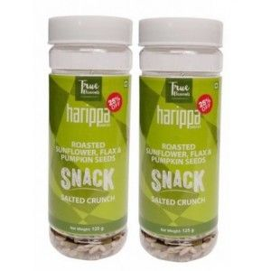 Buy True Elements Roasted Sunflower, Flax & Pumpkin Seeds Salted Crunch (Pack Of 2) - Nykaa