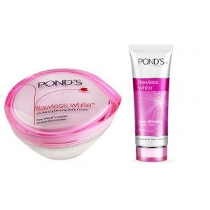 Buy Ponds Flawless White Visible Lightening Daily Cream + Ponds Flawless White Deep Whitening Facial Foam - Nykaa