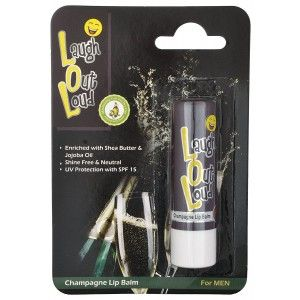 Buy Laugh Out Loud Champagne Lip Balm For Men - Nykaa