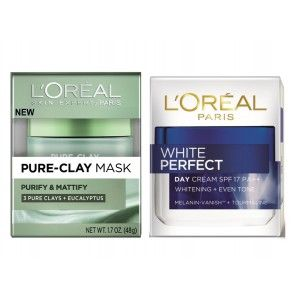 Buy L'Oreal Paris Pure Clay Mask Purify & Mattify + White Perfect Day Cream - Nykaa