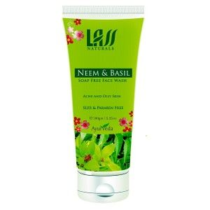 Buy Lass Naturals Neem & Basil Soap Free Face Wash - Nykaa