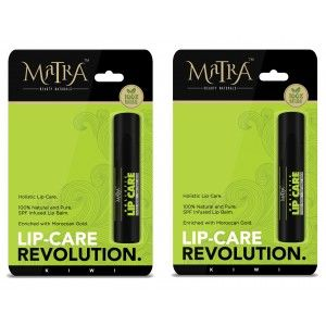 Buy Matra 100% Natural Lip Balm Kiwi, SPF & Moroccan Gold Infused - Pack of 2 - Nykaa