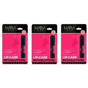 Buy Matra 100% Natural Lip Balm Strawberry, SPF & Moroccan Gold Infused - Pack of 3 - Nykaa