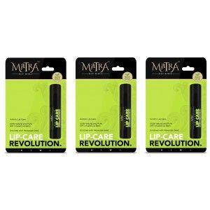 Buy Matra 100% Natural Lip Balm Kiwi, SPF & Moroccan Gold Infused - Pack of 3 - Nykaa