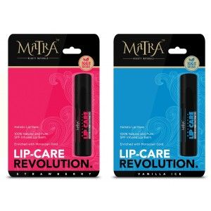 Buy Matra 100% Natural Lip Balm Strawberry, Vanilla Ice, SPF & Moroccan Gold Infused - Pack of 2 - Nykaa
