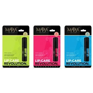 Buy Matra 100% Natural Lip Balm Strawberry, Kiwi, Vanilla Ice, SPF & Moroccan Gold Infused - Pack of 3 - Nykaa