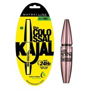 Buy Maybelline New York Lash Sensational  Waterproof Mascara + Free Colossal Kajal 24HR - Nykaa