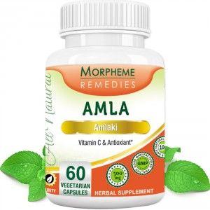 Buy Morpheme Remedies Amla Capsules Vitamin C & Anti Oxidant - 500mg Extract - Nykaa